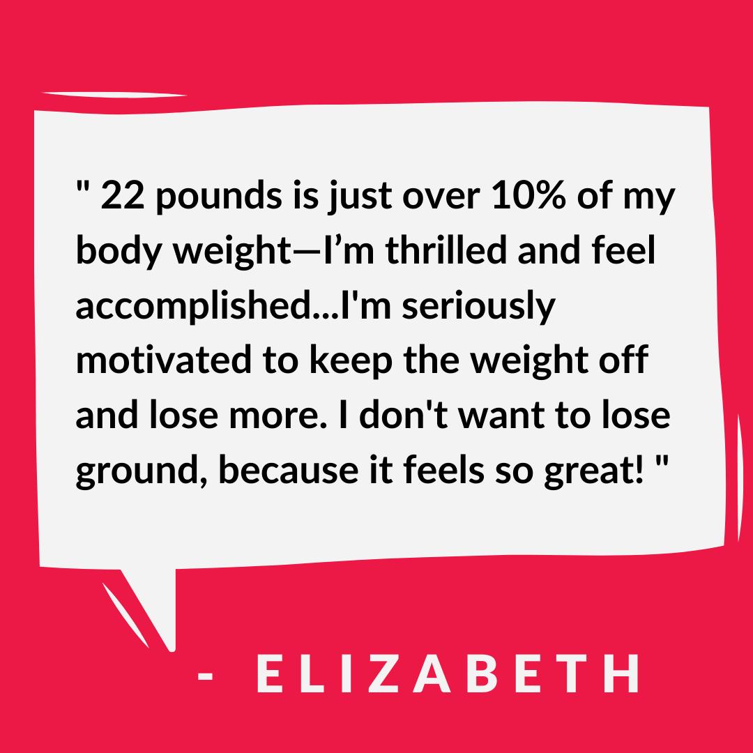 success story - Elizabeth