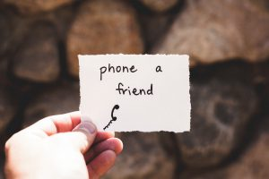 note to phone a friend