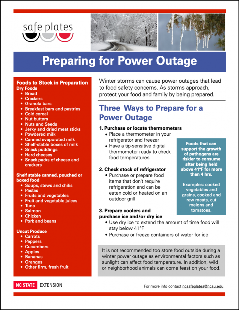 Power outage flyer